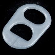 anillas de lata de color gris