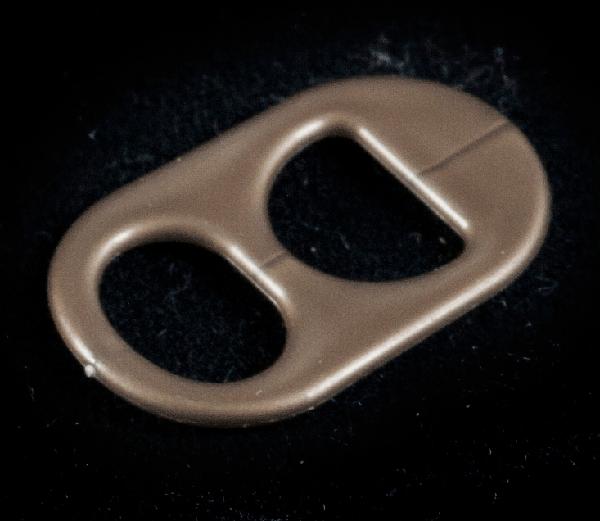 anillas de lata de color oro viejo